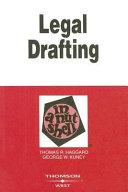 Legal Drafting in a Nutshell
