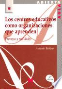 Los centros educativos como organizaciones que aprenden