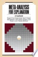 Meta Analysis for Explanation