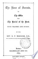 Hour of Sorrow  Or  The Office for the Burial of the Dead