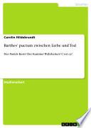 Barthes' puctum zwischen Liebe und Tod