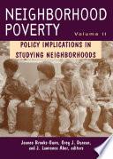 Neighborhood Poverty  Volume 2