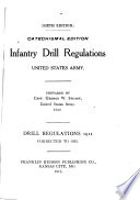 Infantry Drill Regulations  United States Army