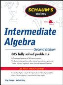 Schaum s Outline of Intermediate Algebra  Second Edition