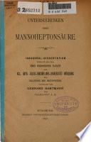Untersuchungen über Mannoheptonsäure
