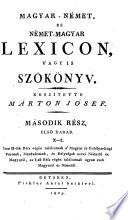 Ungarisch - Deutsches und Deutsch - Ungarisches Wörterbuch