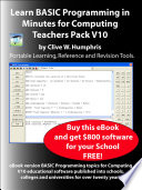 Learn BASIC Programming in Minutes for Computing Teachers Pack