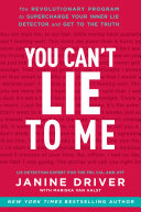 download ebook you can\'t lie to me pdf epub