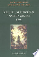 Manual of European Environmental Law