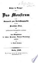 Gefahr im Verzuge  Das Monstrum des Entwurfs zum Verfassungsgesetz f  r den Preussischen Staat  mit geb  hrenden Randglossen versehen     von E  Salchow