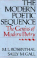 The Modern Poetic Sequence