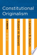 Book Constitutional Originalism