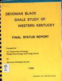 Devonian Black Shale Study of Western Kentucky