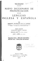A New Pronouncing Dictionary of the Spanish and English Languages: Inglés-Español