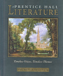 Prentice Hall Literature Timeless Voices Timeless Themes