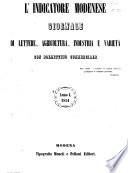 L indicatore modenese giornale di lettere  industria e varieta con bollettino commerciale