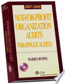 Not For Profit Organization Audits with Single Audits  2007 2008
