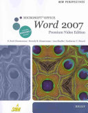 New Perspectives on Microsoft Office Word 2007  Brief  Premium Video Edition