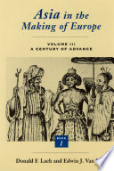Asia in the Making of Europe, Volume III