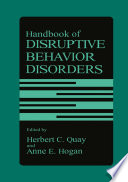 Handbook of Disruptive Behavior Disorders