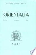 Orientalia  Vol  80