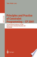 Principles and Practice of Constraint Programming   CP 2001