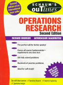 Schaum s Outline of Operations Research