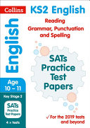 KS2 English Reading, Grammar, Punctuation and Spelling SATs Practice Test Papers