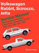 Volkswagen Rabbit Scirocco Jetta Service Manual