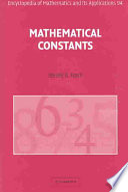 Mathematical Constants