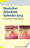 Deutscher Zahn Rzte Kalender 2014