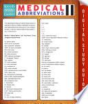 Medical Abbreviations Il Speedy Study Guides