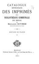 Catalogue méthodique des imprimés de la Bibliothèque Communale de Douai