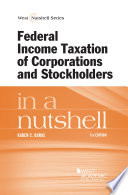 Federal Income Taxation of Corporations and Stockholders in a Nutshell  7th