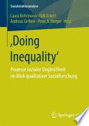 Doing Inequality