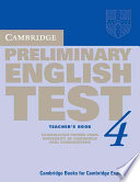 Cambridge Preliminary English Test 4 Teacher s Book