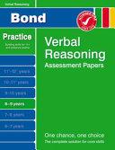 Bond Verbal Reasoning Assessment Papers 8 9 Years