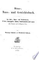 M  nz   Maass  und Gewichtsbuch