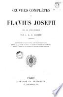 Oeuvres complètes de Flavius Joseph