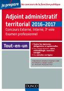 Adjoint administratif territorial   Concours et Examen professionel   2e   d