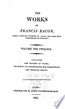 The Works of Francis Bacon  The history of winds  The history of condensations and rarifactions  and Physical essays