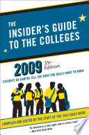 The Insider s Guide to the Colleges  2009