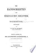 Die Handschriften der Herzoglichen Bibliothek zu Wolfenbüttel: (1966)