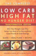 Low Carb High Fat No Hunger Diet