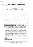 Theologische Zeitschrift