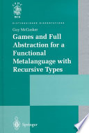 Ebook Games and Full Abstraction for a Functional Metalanguage with Recursive Types Epub Guy McCusker Apps Read Mobile