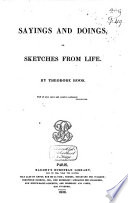Sayings and Doings, Or, Sketches from Life