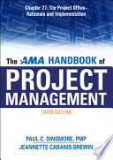 The AMA Handbook of Project Management Chapter 27  The Project Office   Rationale and Implementation Book PDF