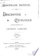 Descriptive Catalogue of Books Contained in the Lending Library