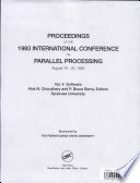 Proceedings of the 1993 International Conference on Parallel Processing Seminal Papers On Parallel Distributed Processing Offered At The